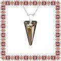 Colier Martisor Confidence Argint 925 Cristale Swarovski Bronze Shadow