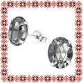 Cercei Martisor Grace Argint 925 Cristale Swarovski Black Diamond