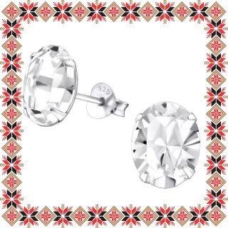 Cercei Martisor Grace Argint 925 Cristale Swarovski Crystal Clear