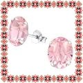Cercei Martisor Grace Argint 925 Cristale Swarovski Light Rose