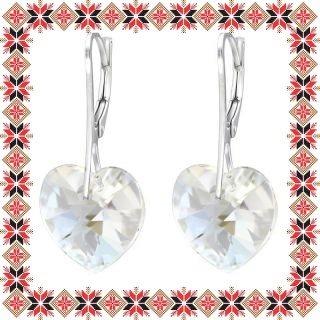 Cercei Martisor Love Argint 925 Cristale Swarovski Moonlight