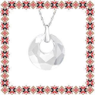 Colier Martisor Victory Argint 925 Cristale Swarovski Crystal Clear