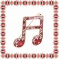 Martisor Brosa Note Muzicale Motive Traditionale
