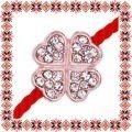 Martisor Bratara Trifoias Rose Gold cu Pietre