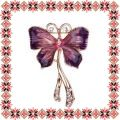 Martisor Brosa Fluture Mov in Zbor