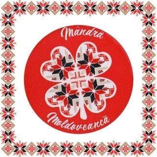 Martisor Brosa Lemn Mandra Moldoveanca
