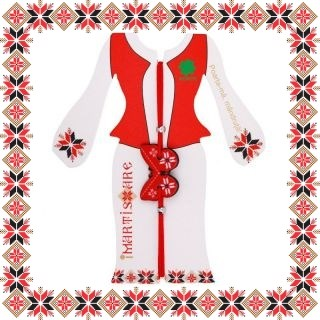 Martisor Bratara Acril Fluture Motive Traditionale