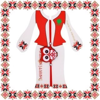 Martisor Bratara Acril Bufnita Motive Traditionale