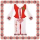 Martisor Bratara Sticla Motive Traditionale Floare Romb Snur Rosu