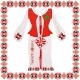 Martisor Bratara Sticla Motive Traditionale Romb Snur Rosu