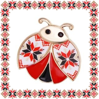 Martisor Brosa Metal Gargarita Motive Traditionale