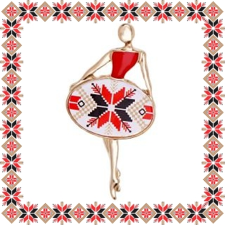 Martisor Brosa Metal Balerina Motive Traditionale