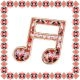 Martisor Brosa Metal Note Muzicale Motive Traditionale