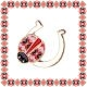 Martisor Brosa Metal Potcoava Motive Traditionale