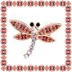 Martisor Brosa Metal Libelula Motive Traditionale