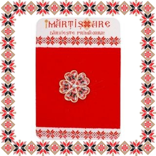 Martisor Brosa Metal Floare Motive Traditionale