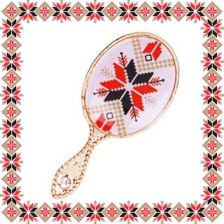 Martisor Brosa Metal Oglinda Motive Traditionale