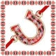Martisor Bratara Metal Potcoava Motive Traditionale