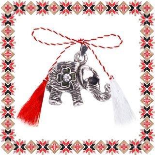 Martisor Pandantiv Elefant Norocos