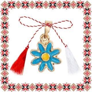 Martisor Pandantiv Floare Albastra