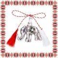 Martisor Pandantiv Elefant cu Trifoi