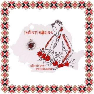 Martisor Pandantiv Vintage Floarea Soarelui Argintiu tibetan