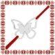 Martisor Bratara Argint 925 Fluture Gingas
