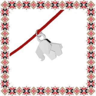 Martisor Bratara Argint 925 Elefant Origami