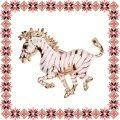 Martisor Brosa Zebra Aurie