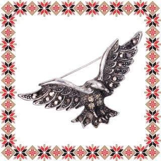 Martisor Brosa Vultur Argintiu