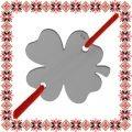 Martisor Bratara Argint 925 Placat cu Rodiu Negru Trifoias Norocos