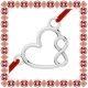Martisor Bratara Argint 925 Contur Inima