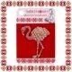 Martisor Brosa Flamingo Pietre