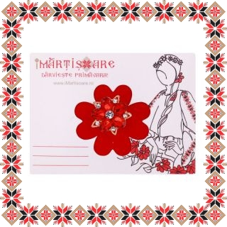Martisor Brosa Floricica Petale Sticla Light Siam
