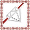 Martisor Bratara Argint 925 Placat Rodiu Alb Diamant Origami