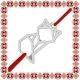 Martisor Bratara Argint 925 Placat Rodiu Alb Vulpe Origami