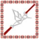 Martisor Bratara Argint 925 Placat Rodiu Alb Pasarea Colibri Origami