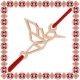 Martisor Bratara Argint 925 Placat Aur Roz 18K Pasarea Colibri Origami