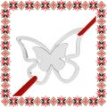 Martisor Bratara Argint 925 Placat Rodiu Alb Fluture Gingas
