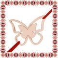 Martisor Bratara Argint 925 Placat Aur Roz 18K Fluture Gingas