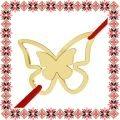 Martisor Bratara Argint 925 Placat Aur 24K Fluture Gingas