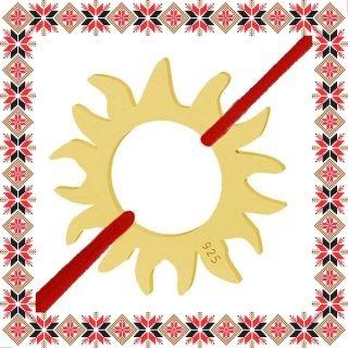 Martisor Bratara Argint 925 Placat Aur 24K Soare