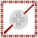 Martisor Bratara Argint 925 Placat Rodiu Alb Banut Motive Traditionale