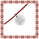 Martisor Bratara Argint 925 Placat Rodiu Alb Floare Motive Traditionale