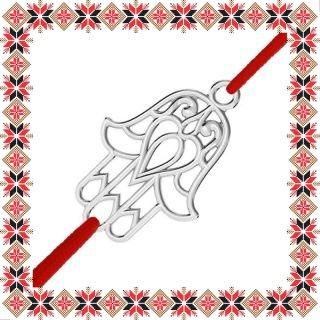 Martisor Bratara Argint 925 Placat Rodiu Alb Fatima