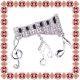 Martisor Brosa Argintie Claviatura cu Note Muzicale