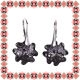 Cercei Martisor Trifoi Argint 925 Cristale Swarovski Silver Night