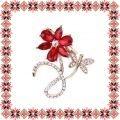 Martisor Brosa Floare Petale Rosii